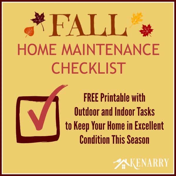 Fall Home Maintenance Checklist: Free Printable