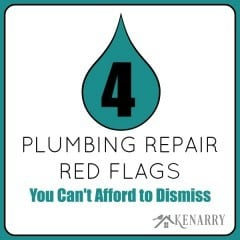 4 Plumbing Repair Red Flags You Can't Afford to Dismiss by Karleia Steiner for Kenarry: Ideas for the Home