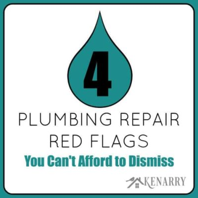 4 Plumbing Repair Red Flags You Can't Afford to Dismiss by Karleia Steiner for Ideas for the Home by Kenarry®
