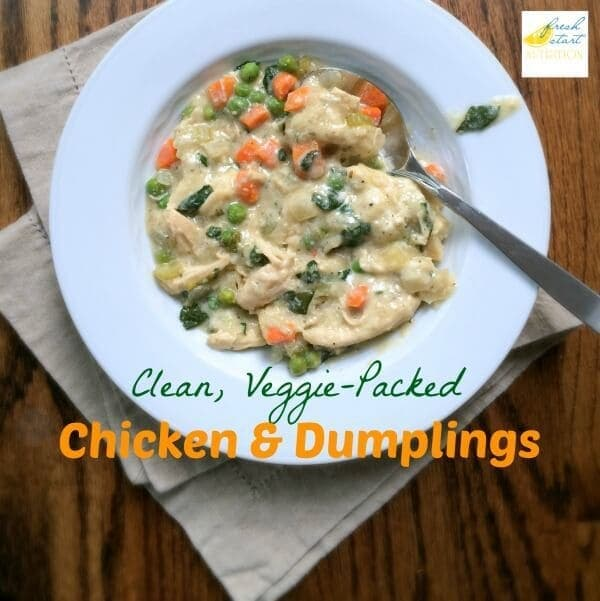 Clean, Veggie-Packed Chicken and Dumplings from Fresh Start Nutrition on Ideas for the Home by Kenarry®