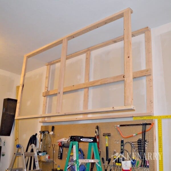 DIY Garage Storage Great Idea For Ceiling Mounted Shelves In The Better Seasonal