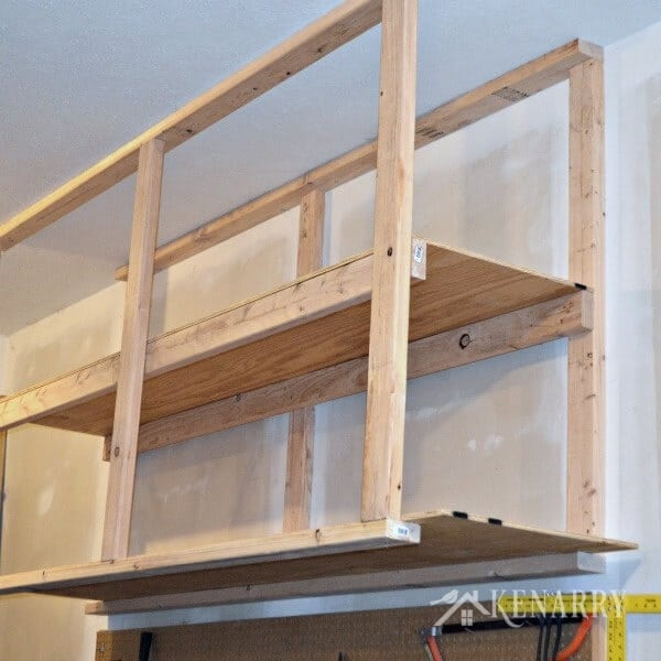 Superbe DIY Garage Storage: Great Idea For Ceiling Mounted Shelves In The Garage  For Better Seasonal