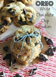 Oreo White Chocolate Chip Cookies