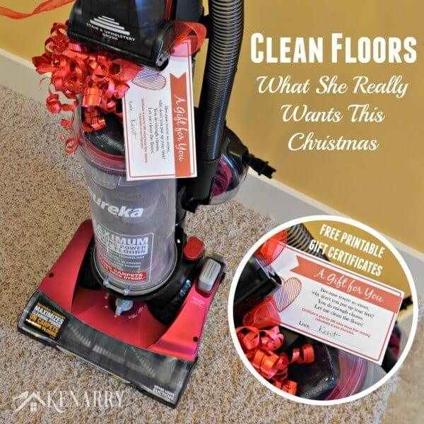 Free printable coupons to vacuum and clean floors. Great gift for Mother's Day, Valentine's Day, her birthday or anniversary too.