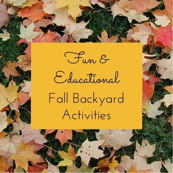 10 Fun and Educational Fall Backyard Activities for Kids - The graphic,