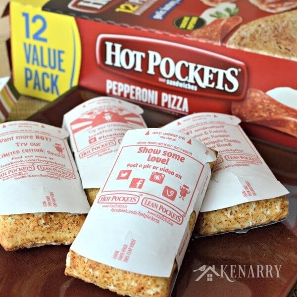 Forget leftover turkey sandwiches or fancy fall recipes! This free printable turns Hot Pockets into festive easy snacks for Thanksgiving.