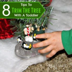 Trying to decorate your Christmas tree with a toddler or keep your baby away from it afterwards? Here are 8 great ideas to make it easier this Christmas.