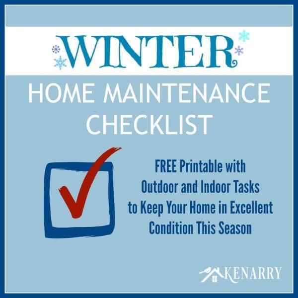 Winter Home Maintenance Checklist: Free Printable