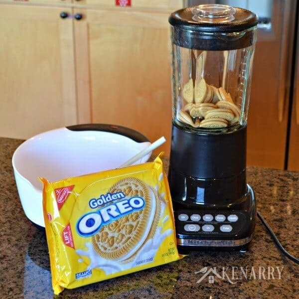 The trick with OREO Cookie Balls is to finely crush the cookies in a blender so they're reduced to crumbs.