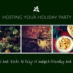 Great tips and tricks for how to host a budget-friendly holiday party!