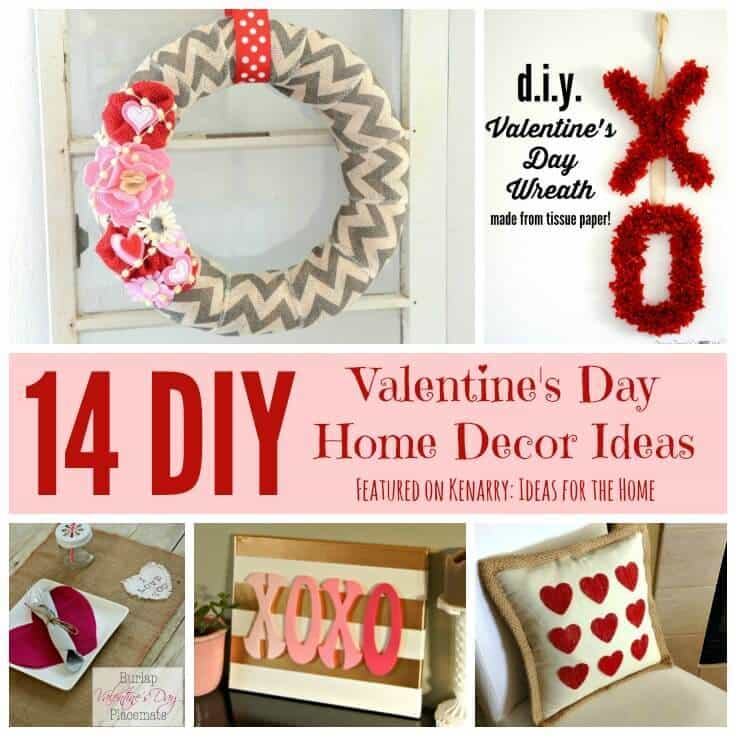Valentine 39 s day home decor 14 beautiful diy ideas for Home decorations for valentine s day