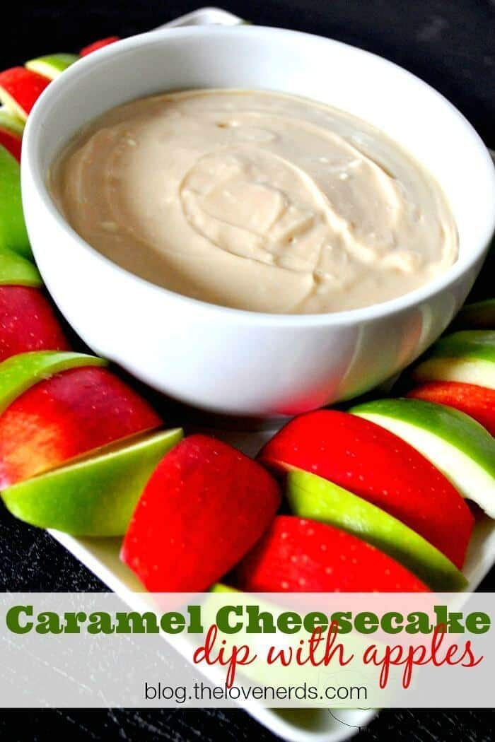 Caramel Cheesecake Dip with Apples from The Love Nerds featured on Ideas for the Home by Kenarry™