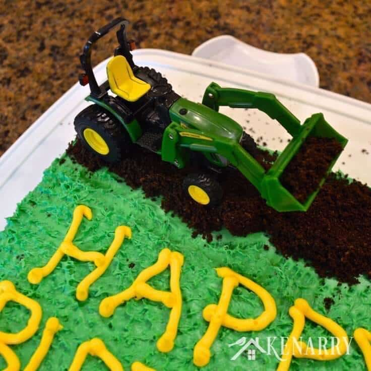 Prime John Deere Cake An Easy Tractor Birthday Idea Funny Birthday Cards Online Fluifree Goldxyz
