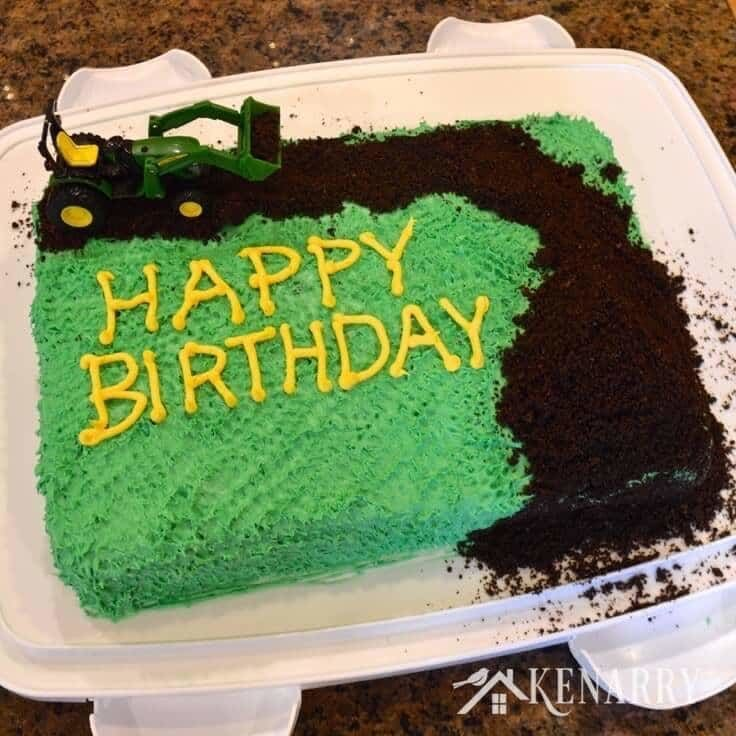 Awesome John Deere Cake An Easy Tractor Birthday Idea Funny Birthday Cards Online Fluifree Goldxyz