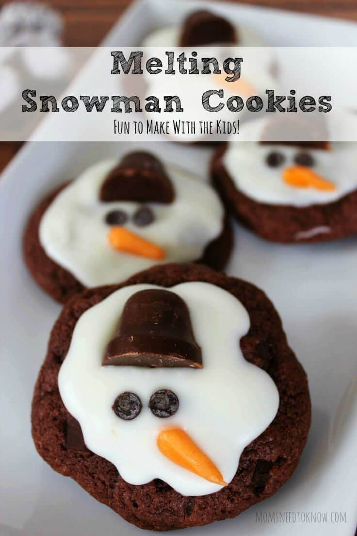 Melting Snowman Cookies - Moms Need to Know featured on Ideas for the Home by Kenarry™