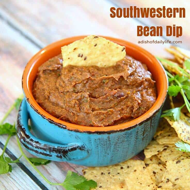 Southwestern Bean Dip from A Dish of Daily Life featured on Kenarry: Ideas for the Home