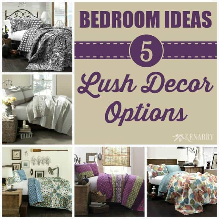 Love these lush decor ideas for redecorating my Master Bedroom! I can change the quilt and home decor without repainting the entire room.