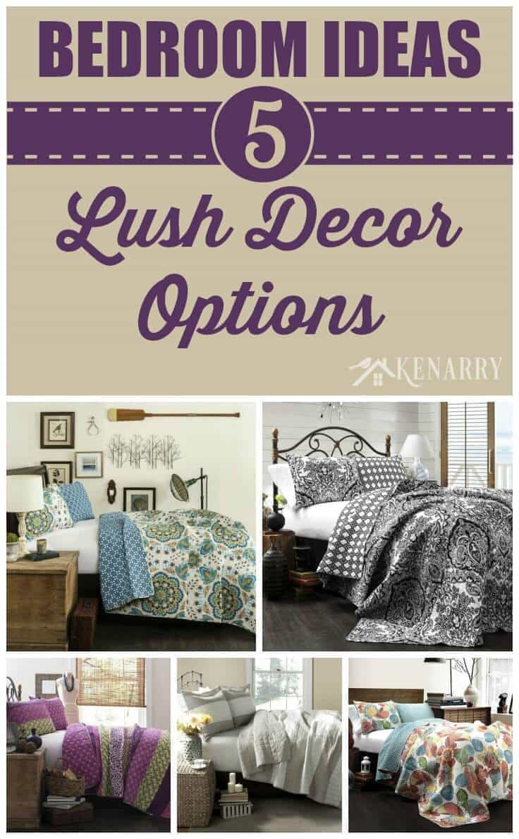 Love these lush decor bedroom ideas for redecorating my Master Bedroom! I can change the quilt and home decor without repainting the entire room.