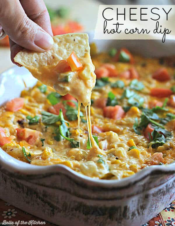 Cheesy Hot Corn Dip from Belle of the Kitchen featured on Ideas for the Home by Kenarry™