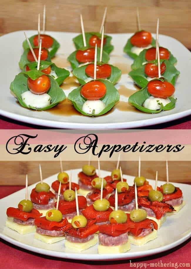 Caprese and Antipasto Skewers from Happy Mothering featured on Kenarry: Ideas for the Home