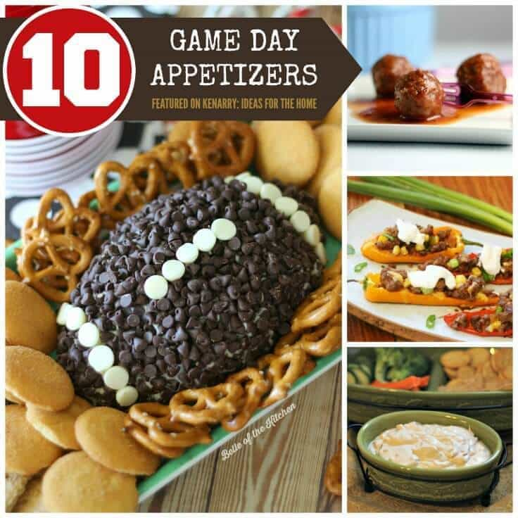 Game day recipes 10 super bowl party appetizer ideas for Super bowl appetizers pinterest