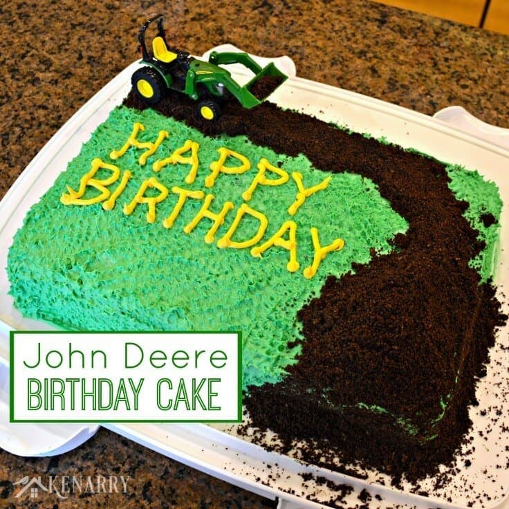 John Deere Cake An Easy Tractor Birthday Idea