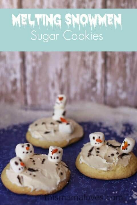 Melted Snowman Sugar Cookies - This Mama Loves featured on Kenarry: Ideas for the Home