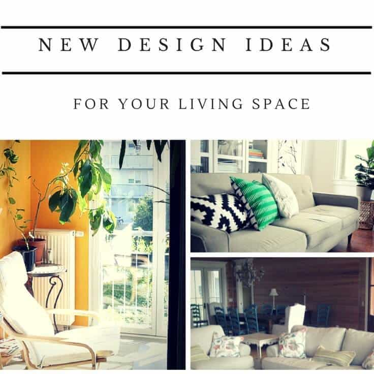 5 new design ideas for re-decorating your living space