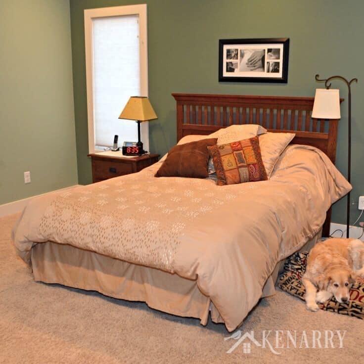 Bedroom ideas - Master Bedroom Sage Green and Khaki