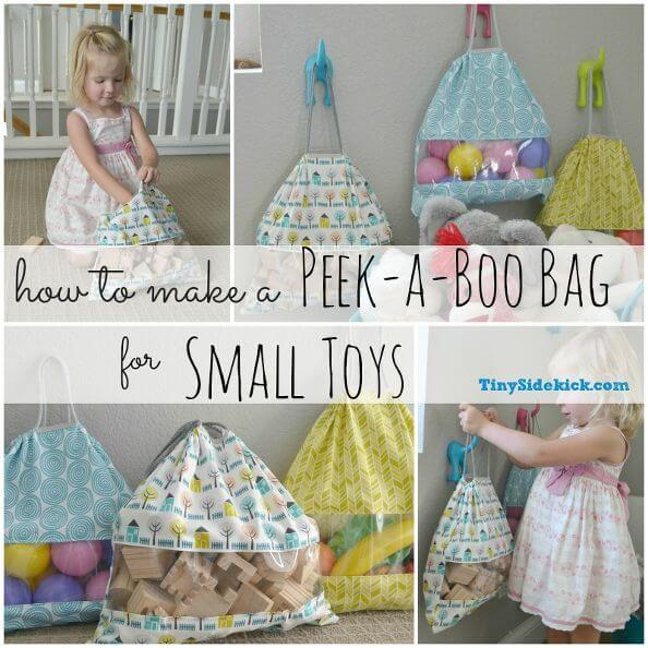 Storage Solution for Small Toys {Peek-a-Boo Bag Tutorial} - Tiny Sidekick on Hometalk