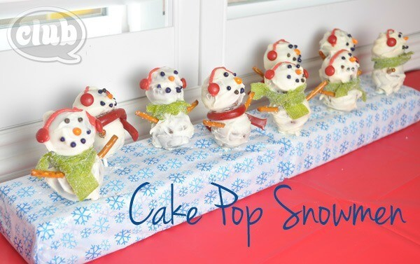 Gingerbread Snowmen Cake Pops - Club Chica Circle featured on Kenarry: Ideas for the Home