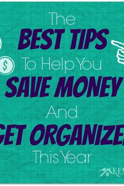 GREAT ideas to help you save money and get your life organized this year!