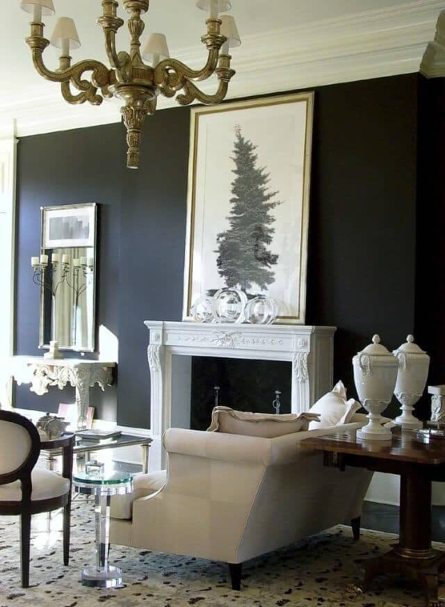 Transitional living room design example -