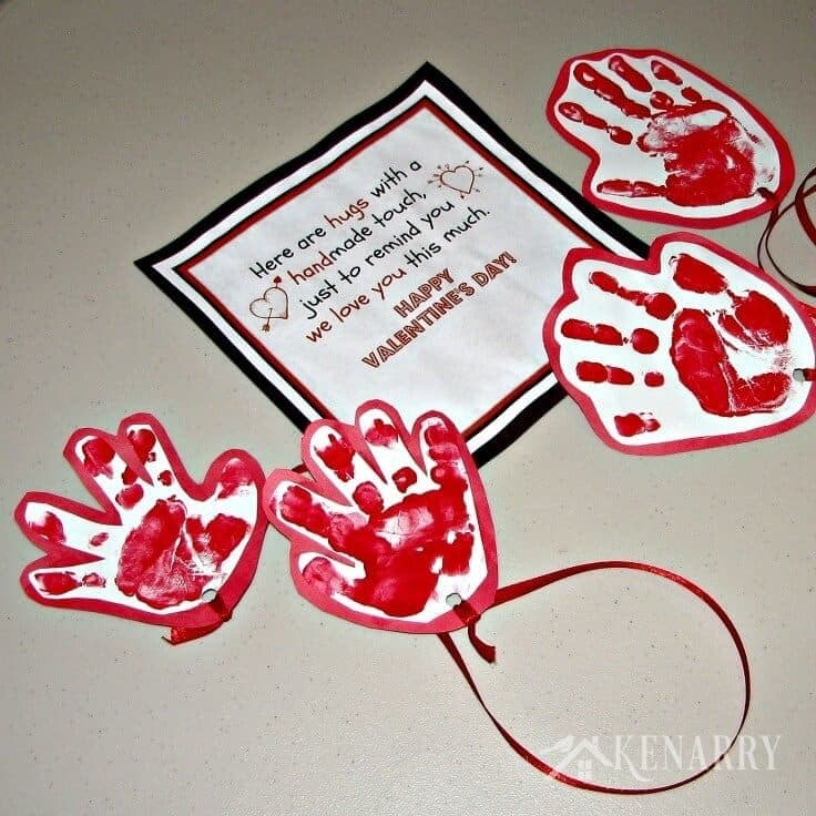 kid s valentine card idea sending a long distance hug