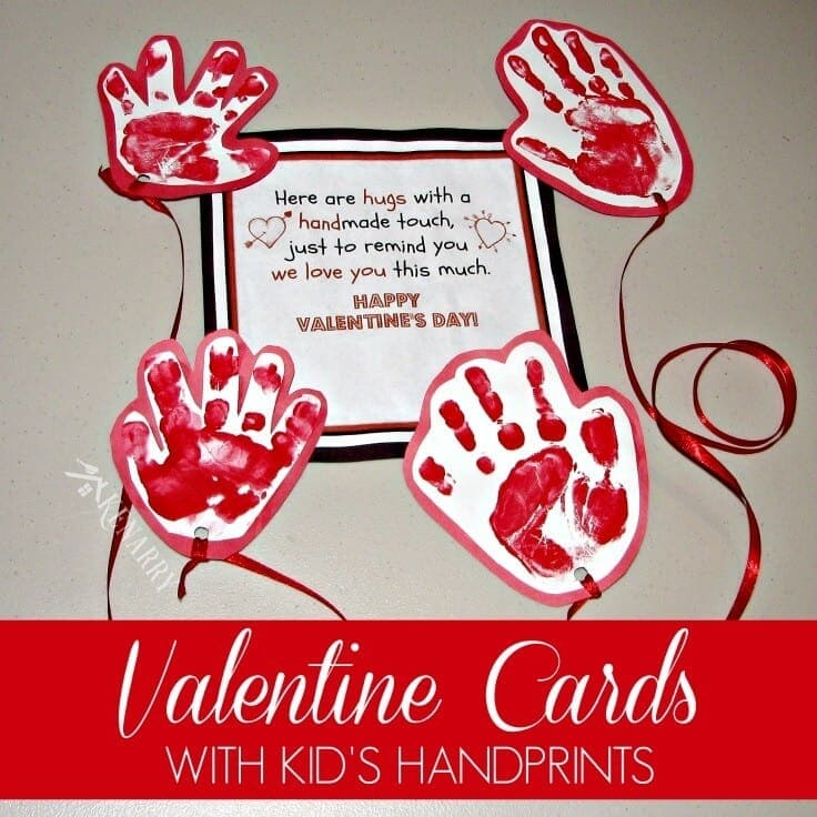 Kids Valentine Card Idea Sending a Long Distance Hug