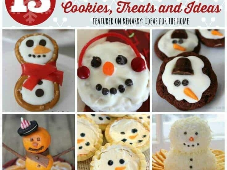 Do you want to build a snowman? You and your kids will love these ideas for snowmen shaped winter snacks including snowman cookies, treats and other ideas!