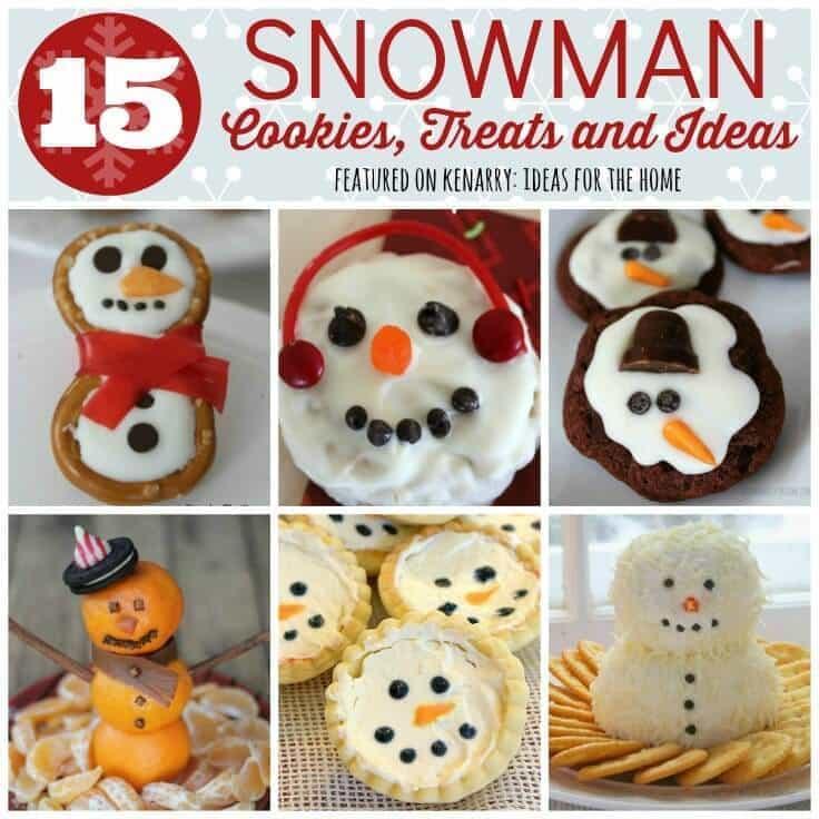 Winter Snacks: 15 Snowman Cookies, Treats and Ideas