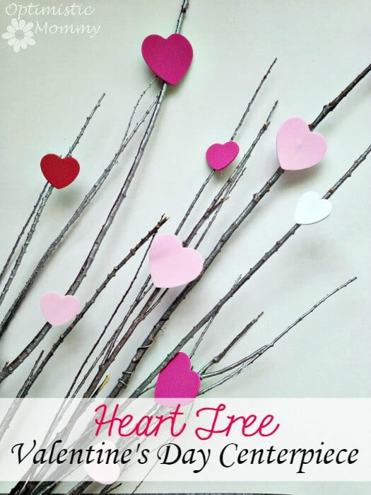Heart Tree Valentine's Day Centerpiece - Optimistic Mommy featured on Kenarry: Ideas for the Home
