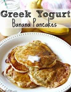Greek Yogurt Banana Pancakes