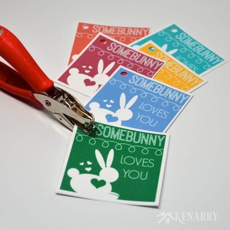 This is so cute! This free printable tag for Easter lets your child know
