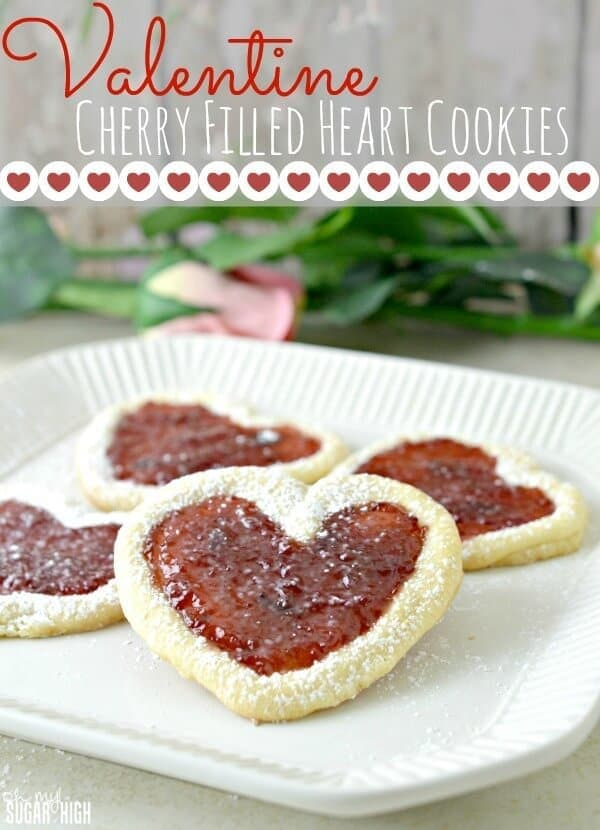 Valentine Cherry Filled Heart Cookies – Oh My! Sugar High featured on Ideas for the Home by Kenarry™