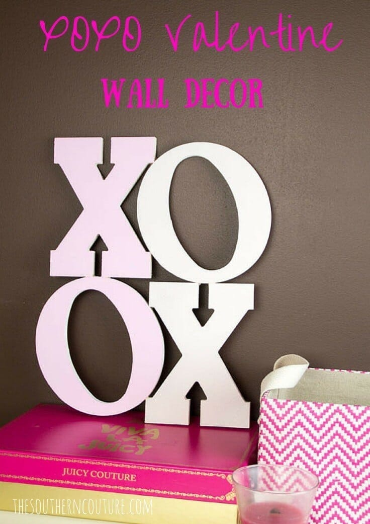 XOXO Valentine Wall Decor - Southern Couture featured on Kenarry: Ideas for the Home