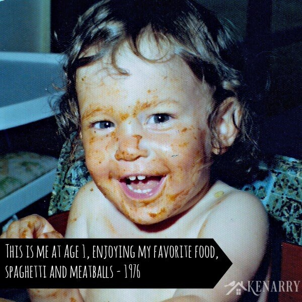 Enjoying the Best Homemade Spaghetti and Meatballs at Age 1