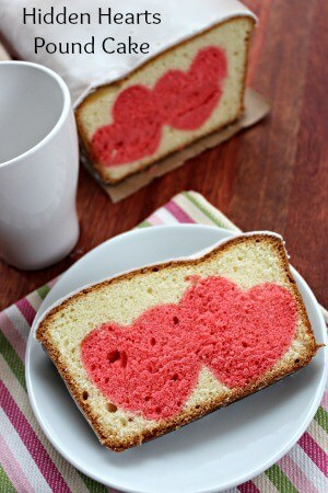 Hidden Hearts Pound Cake – Moms Need to Know featured on Ideas for the Home by Kenarry™