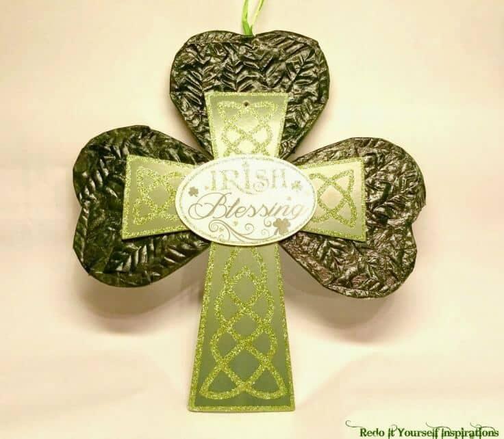 St. Patrick's Day Craft: Shamrock Door Hanger or Wall Plaque