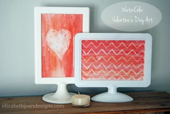 Watercolor Valentine's Day Art - Elizabeth Joan Designs