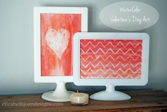 Watercolor Valentine's Day Art - Elizabeth Joan Designs