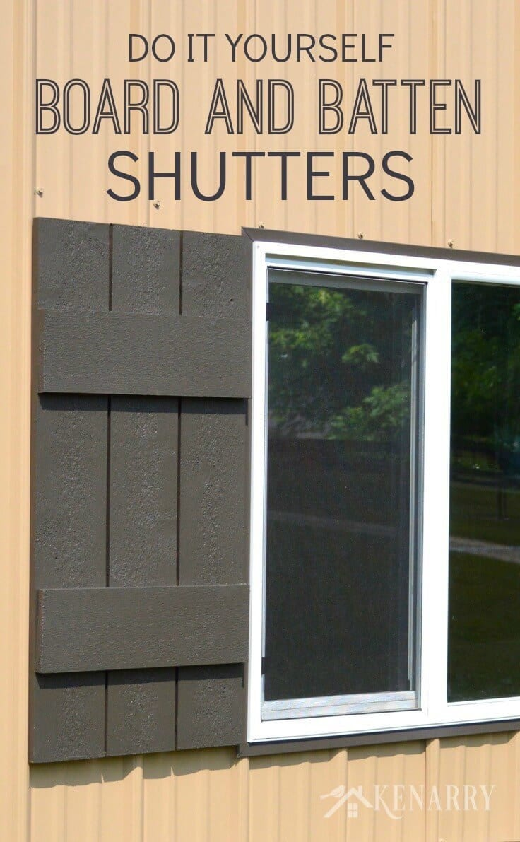 Board and Batten Shutters: An Easy DIY Tutorial