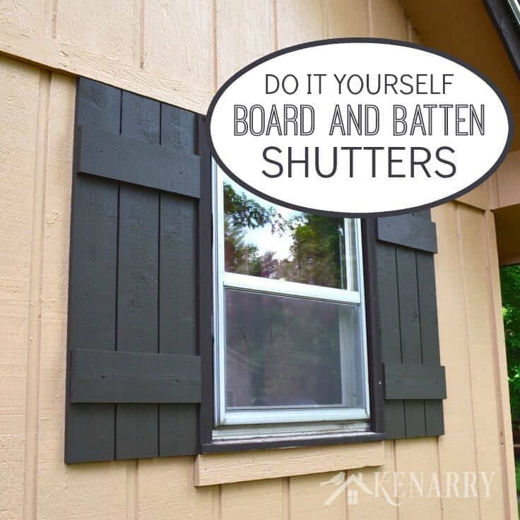 Exceptionnel Board And Batten Shutters: An Easy DIY Tutorial