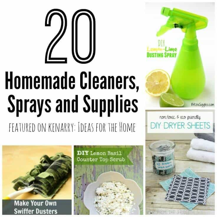 This is just what I needed - 20 homemade cleaners including DIY sprays and supplies to tackle spring cleaning!